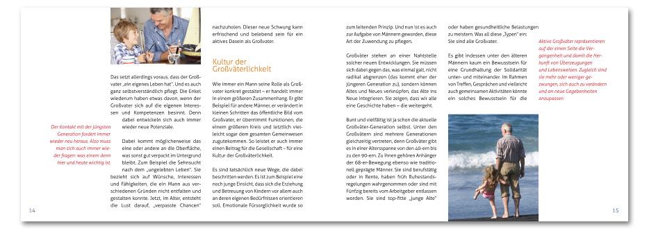"""Broschüre """"Großvater sein"""" für die Männerarbeit der EKD gestaltet von stefanie lombert : grafikdesign Hannover"""