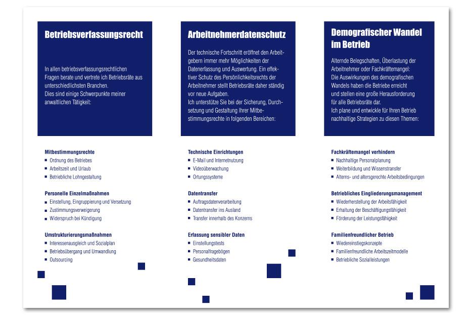 Imagefolder Rechtsanwältin Maria Lück gesaltet von stefanie lombert : grafikdesign Hannover