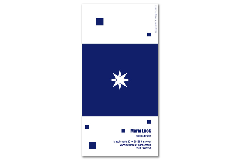 Weihnachtskarte Rechtsanwältin Maria Lück gesaltet von stefanie lombert : grafikdesign Hannover