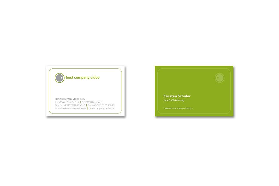 Vistienkarte von Best Company Video, gestaltet von stefanie lombert : grafikdesign aus Hannover