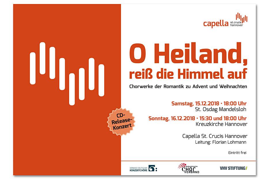 Konzertplakat der Capella St. Crucis Hannover