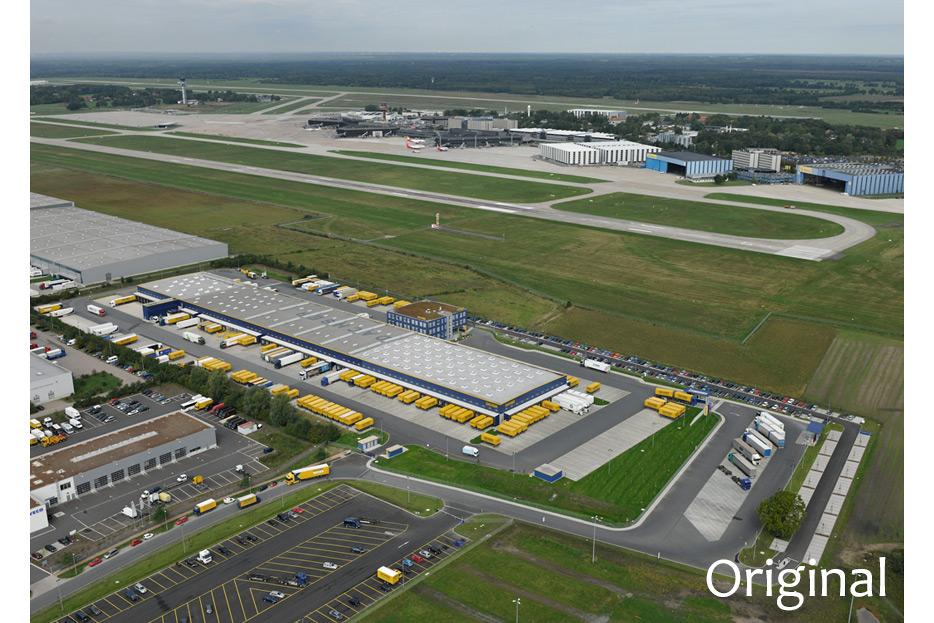 Bildmontage Luftaufnahme für Dachser Intelligent Logistics von stefanie lombert : grafikdesign Hannover
