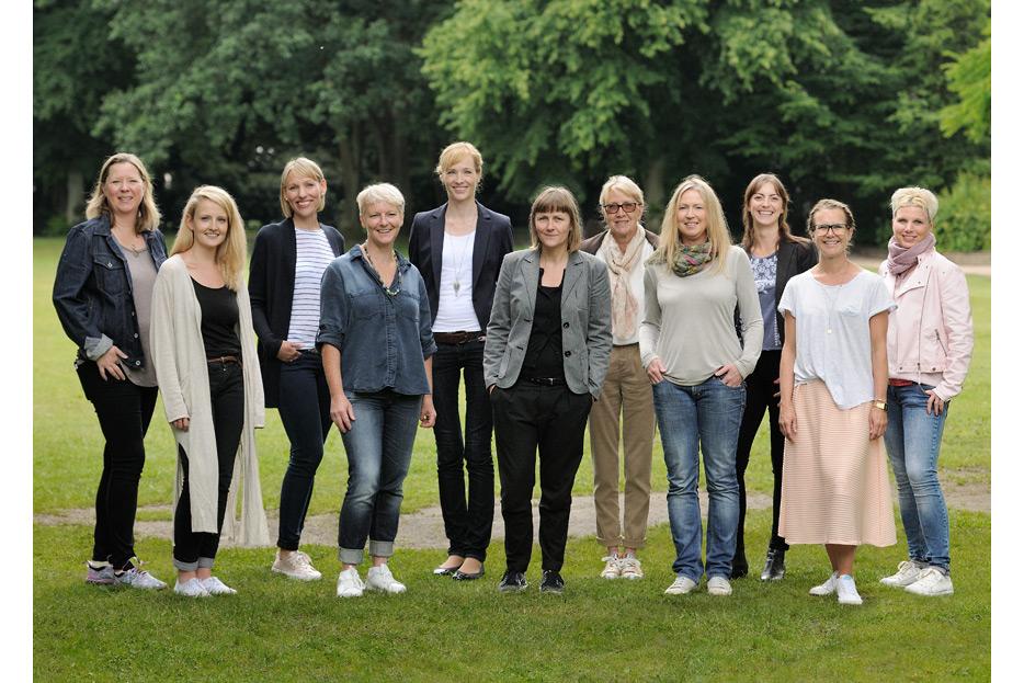 Bildmontage Teamfoto 1 des dänischen Ferienhausanbieters fejo.dk von stefanie lombert : grafikdesign Hannover