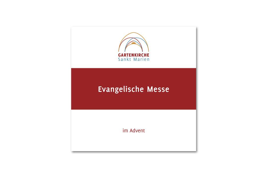 Titel Messeablaufheft im Advent der Gartenkirche St. Marien in Hannover, gestaltet von stefanie lombert : grafikdesign