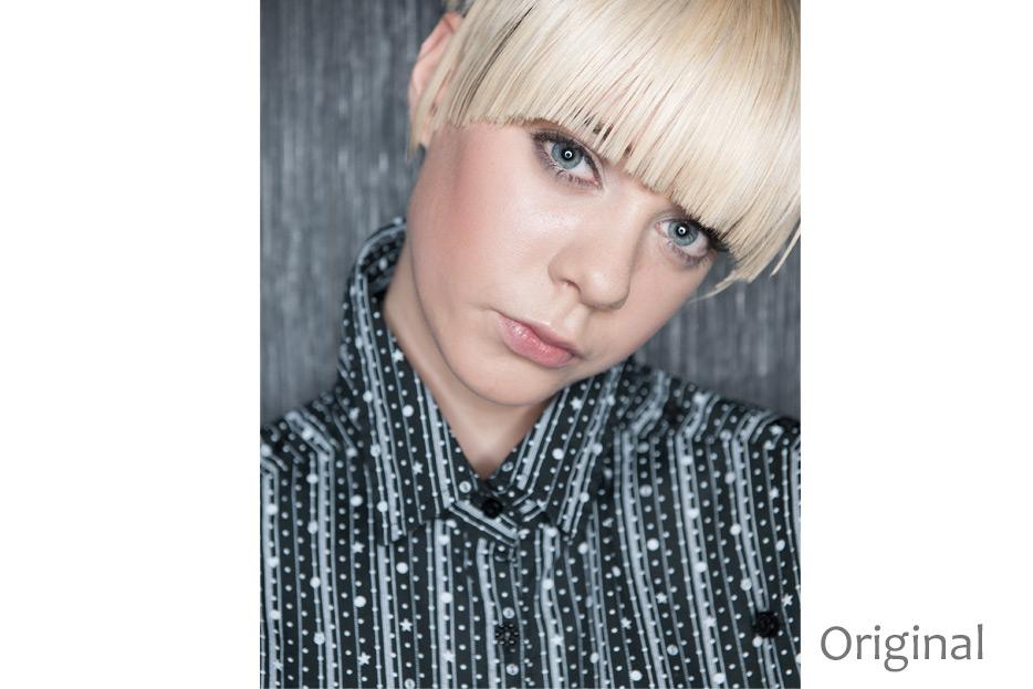 Beautyretusche und Lookerstellung mit dodge & burn für Modell Laura H. von stefanie lombert : grafikdesign Hannover