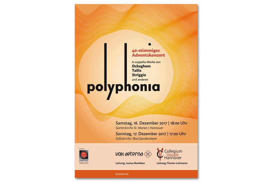"""Konzertplakat """"polyphonia"""" gestaltet von stefanie lombert : grafikdesign"""