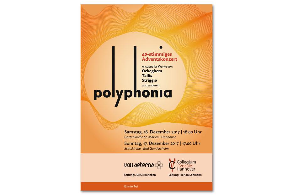 """Titelseite Konzertprogrammheft """"polyphonia"""" gestaltet von stefanie lombert : grafikdesign"""