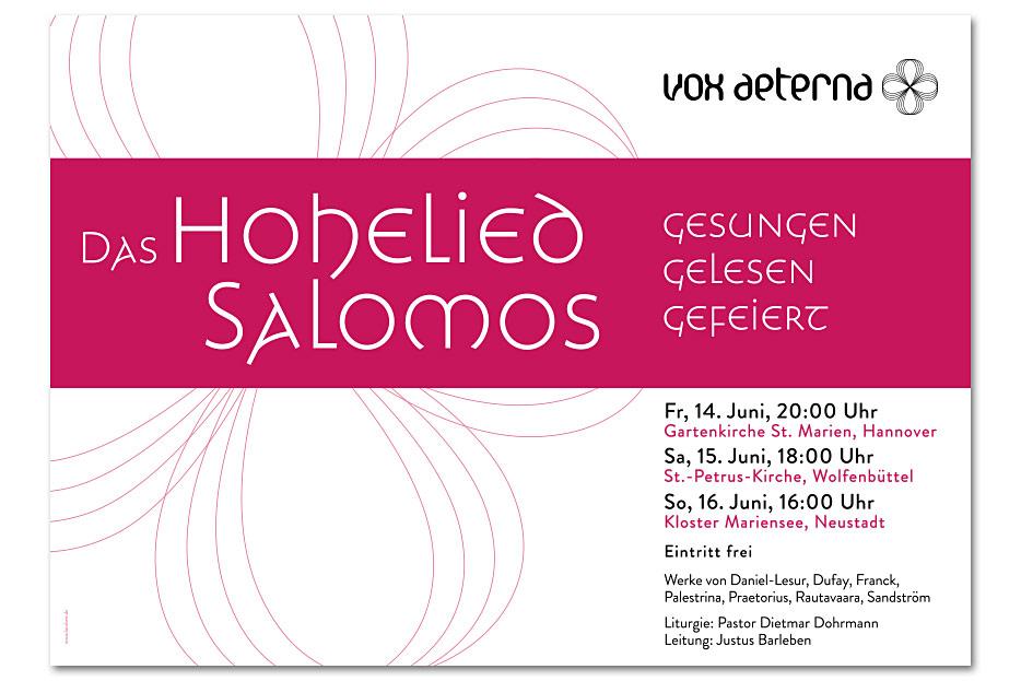 Konzertplakat Juni 2019 für das hannoversche Vokalensemble vox aeterna gestaltet von stefanie lombert : grafikdesign Hannover